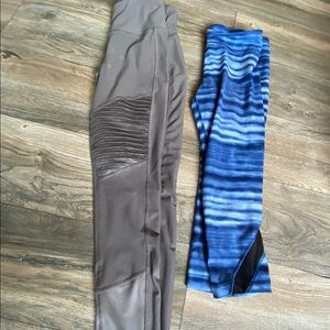 2 small leggings apana under armour active wear